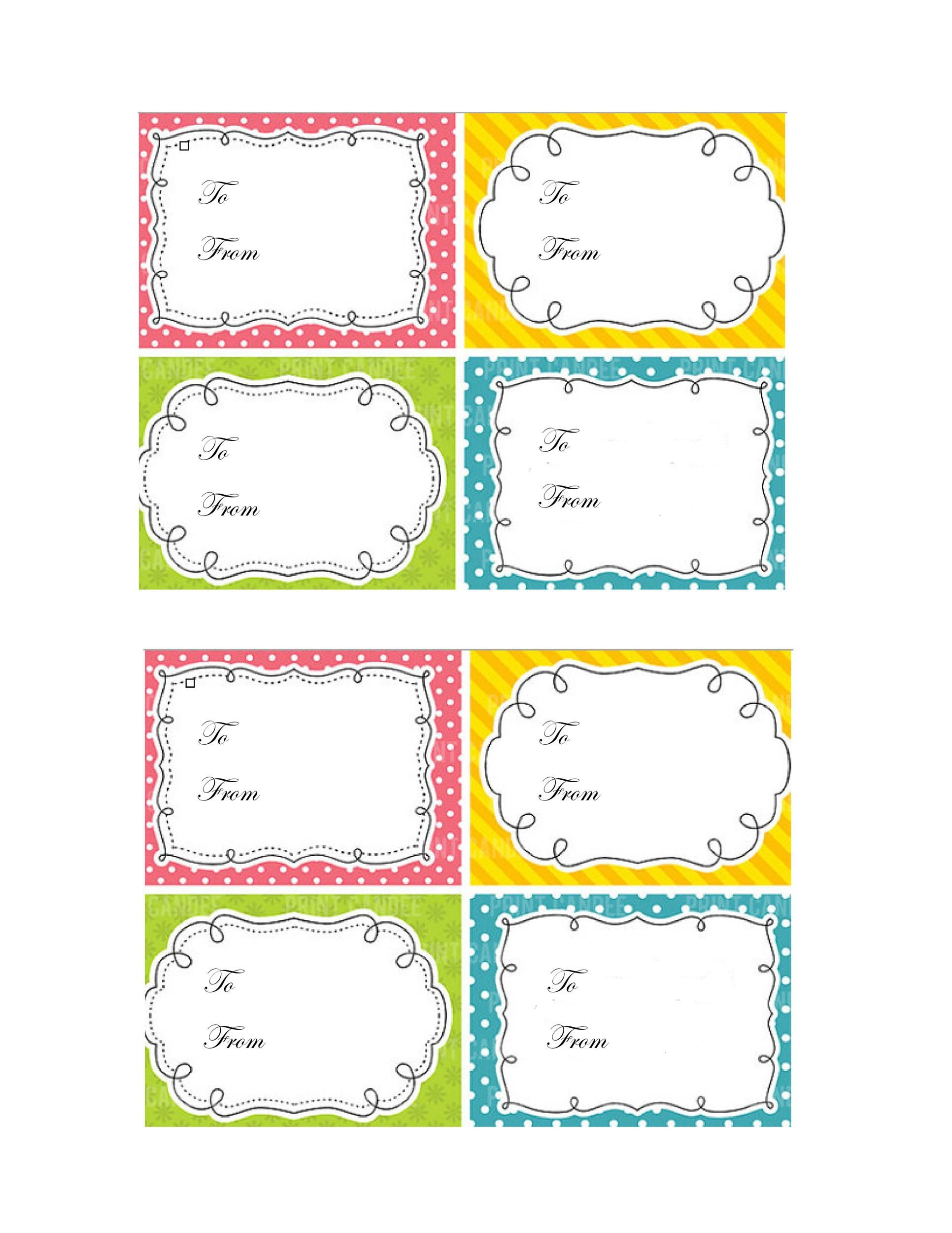 007 Top Free Printable Thank You Gift Tag Template Inspiration  TemplatesFull