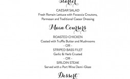 007 Top Free Printable Wedding Menu Card Template Picture