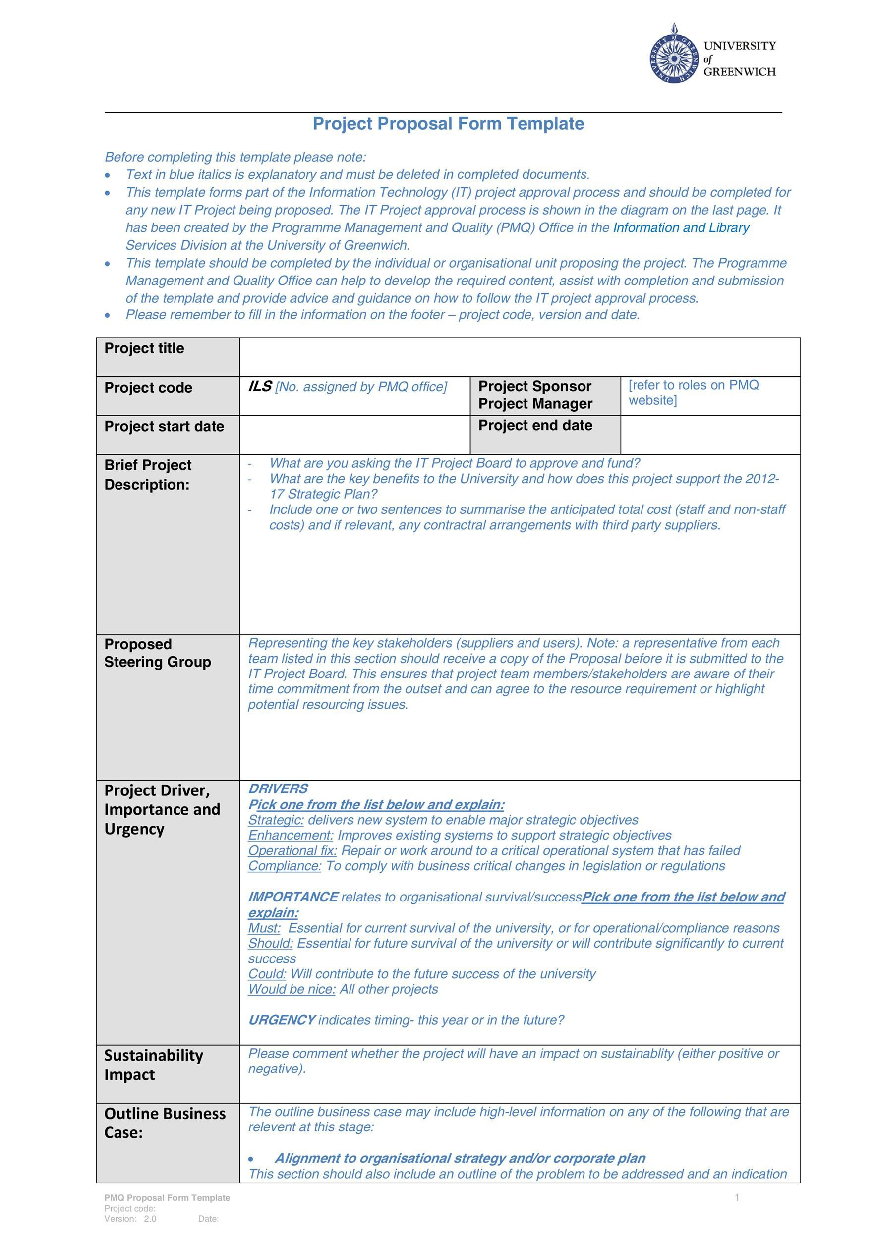 007 Top Free Project Proposal Template Inspiration  Document Ppt PdfFull