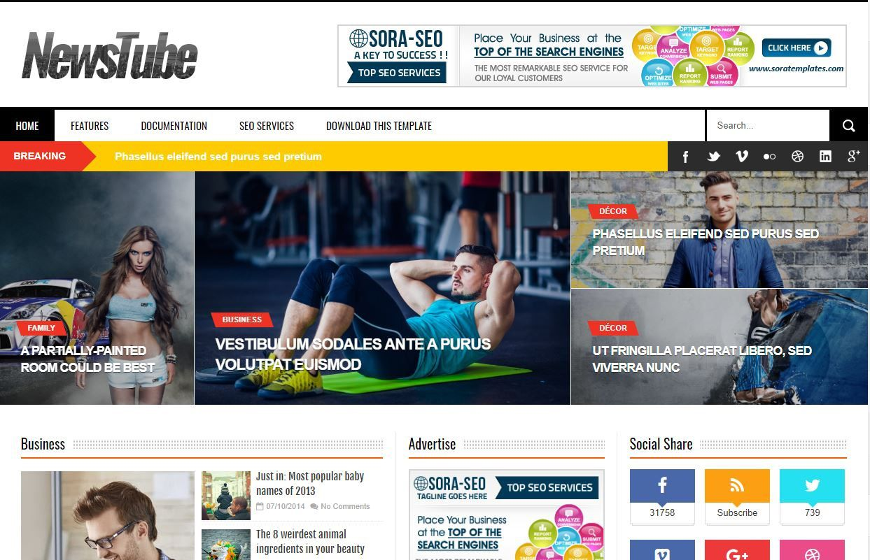 007 Top Free Seo Responsive Blogger Template Sample  TemplatesFull