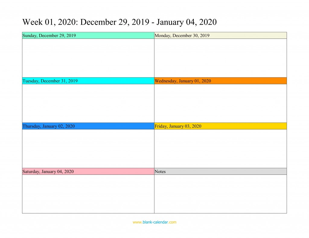 007 Top Free Weekly Calendar Template Photo  Printable With Time Slot 2019 WordLarge