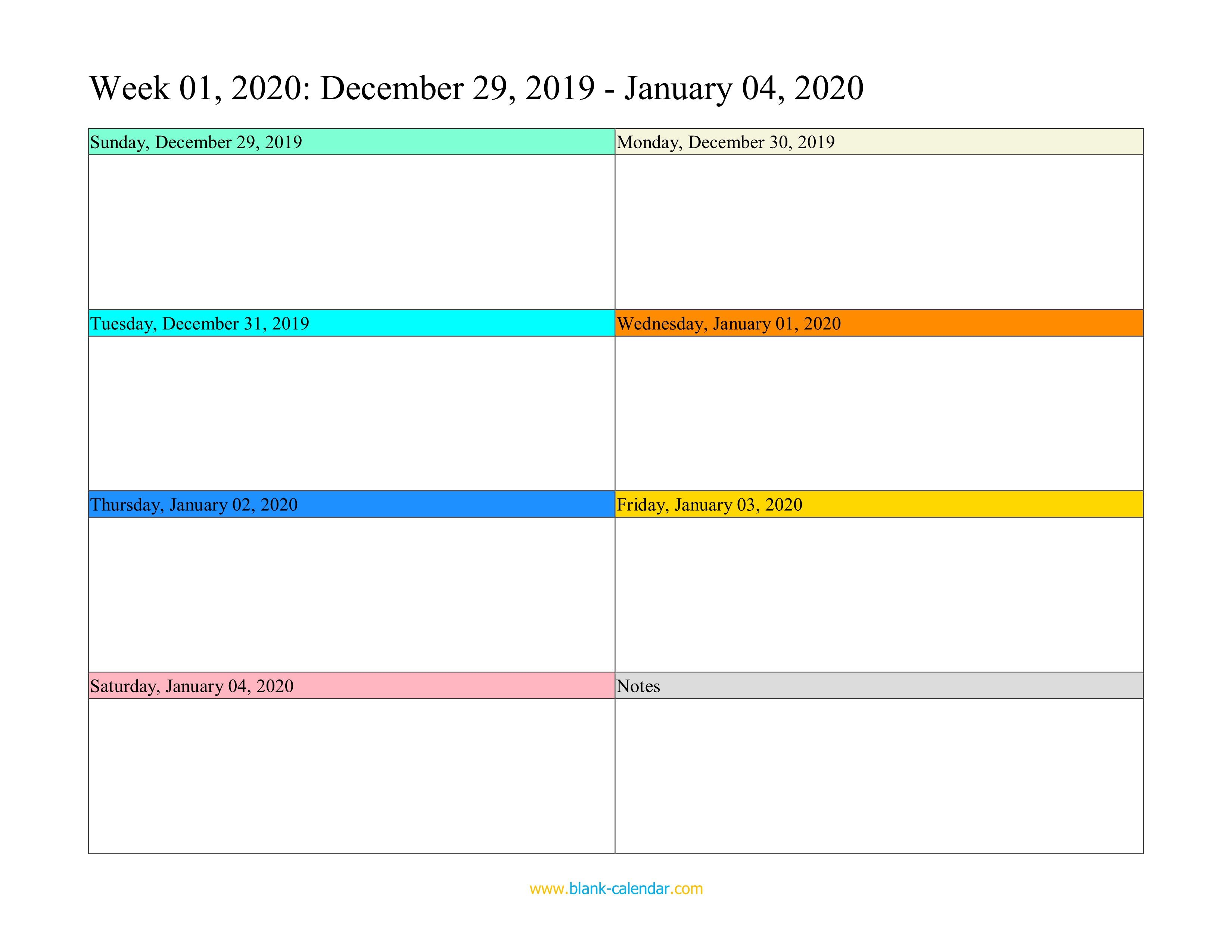 007 Top Free Weekly Calendar Template Photo  Printable With Time Slot 2019 WordFull