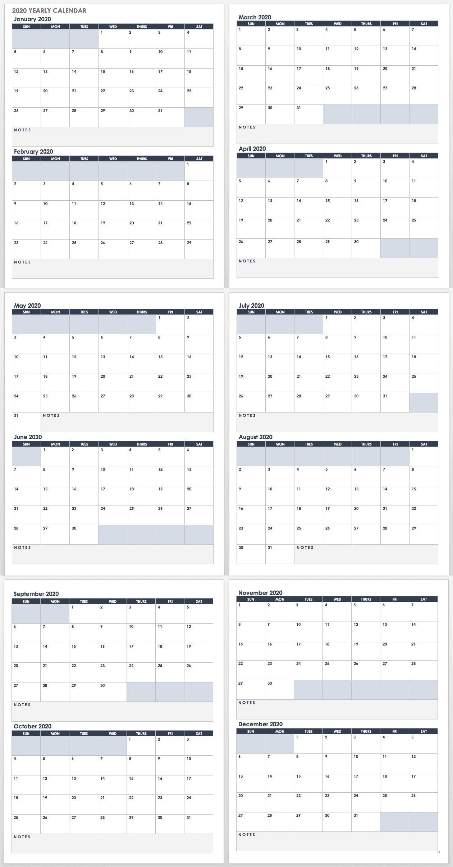 007 Top Google Doc Calendar Template 2020 Highest Clarity  Drive Sheet WeeklyFull