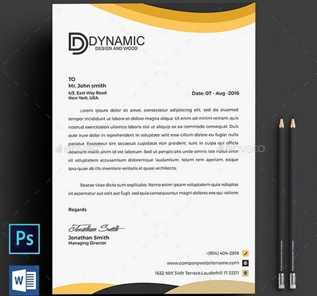 007 Top Letterhead Format In M Word Free Download Sample Large