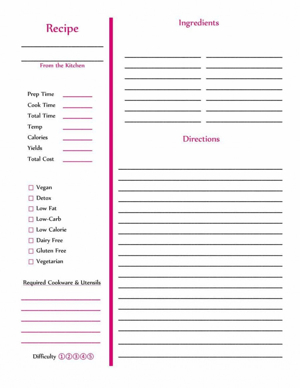 007 Top Make Your Own Cookbook Template Design  Create FreeLarge