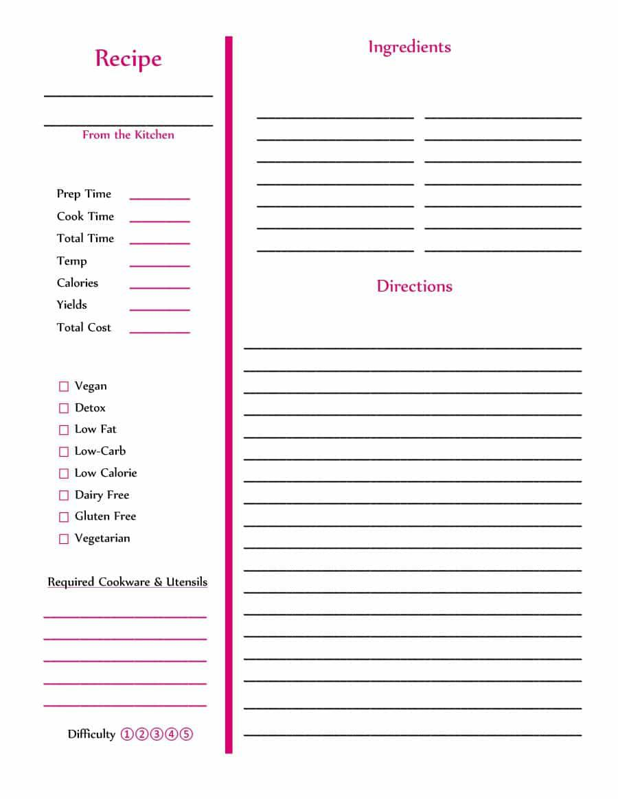 007 Top Make Your Own Cookbook Template Design  Create FreeFull