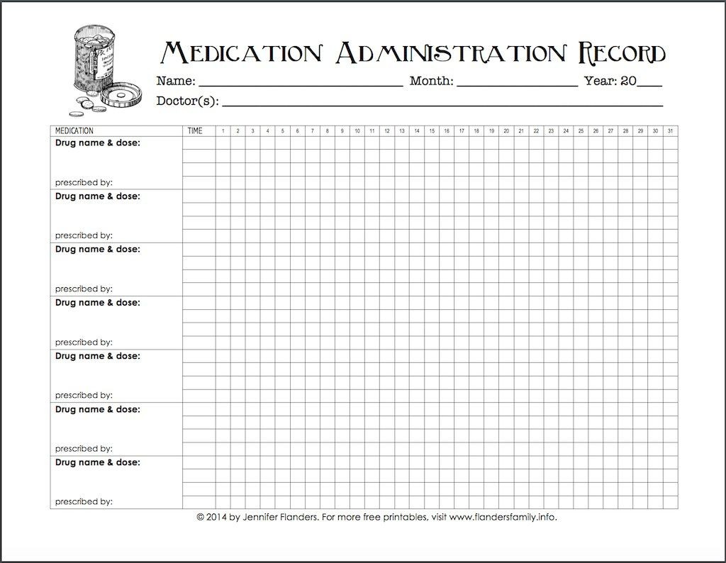 007 Top Medication Administration Record Template Example  Download For Home UseLarge
