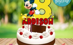 007 Top Mickey Mouse Face Cake Template Printable Inspiration