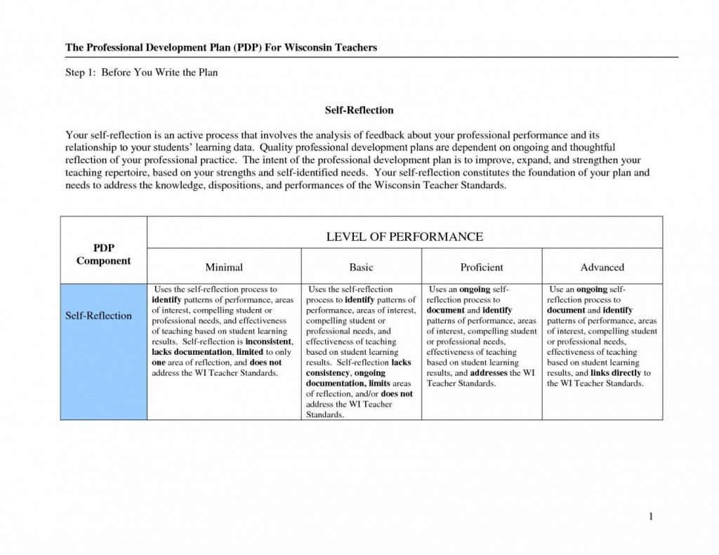 007 Top Professional Development Plan Template For School Concept  Schools Example Teaching AssistantLarge