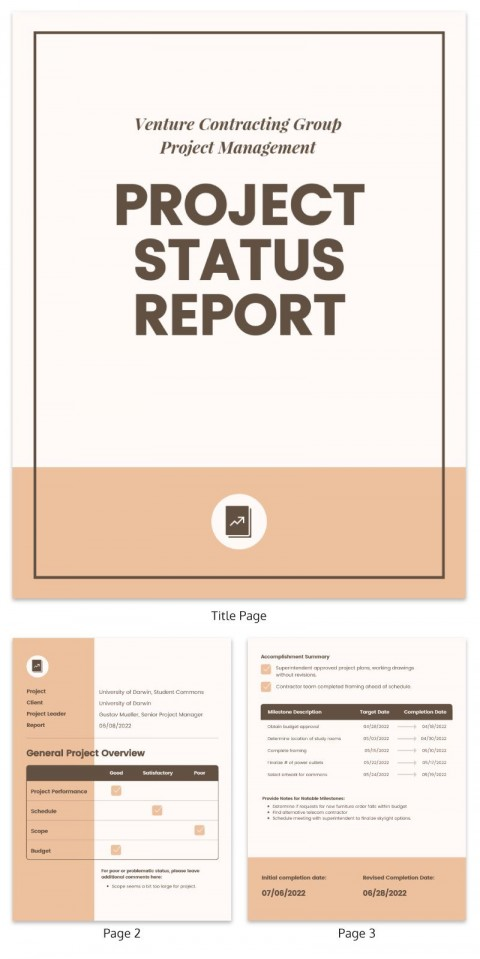 007 Top Project Management Report Template Free High Resolution  Word Weekly Statu Excel480