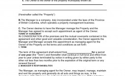 007 Top Property Management Contract Template Uk Sample  Agreement Free