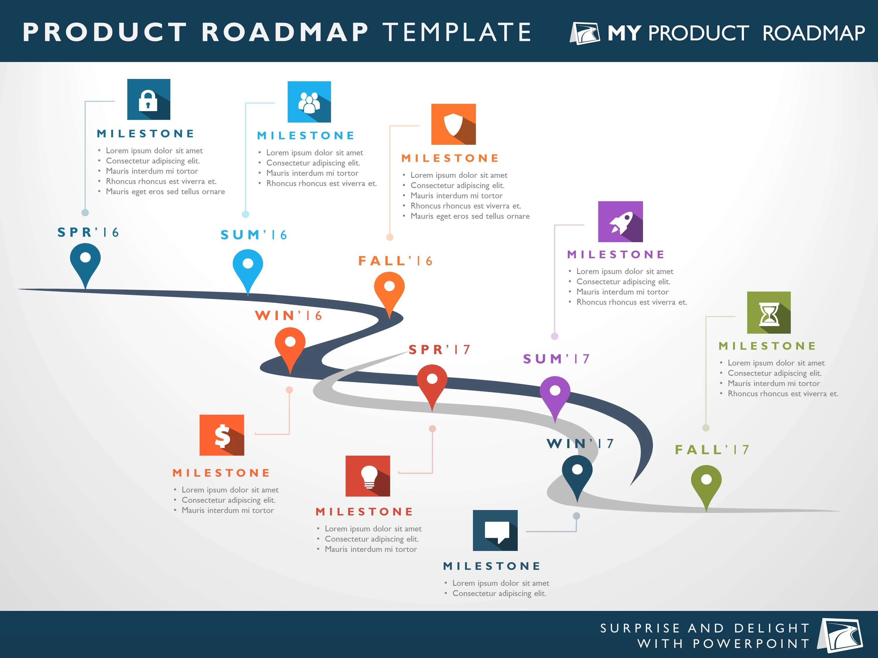 007 Top Road Map Template Powerpoint Highest Quality  Roadmap Ppt Free Download ProductFull