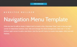 007 Top Side Menu Bar Template Free Download Concept