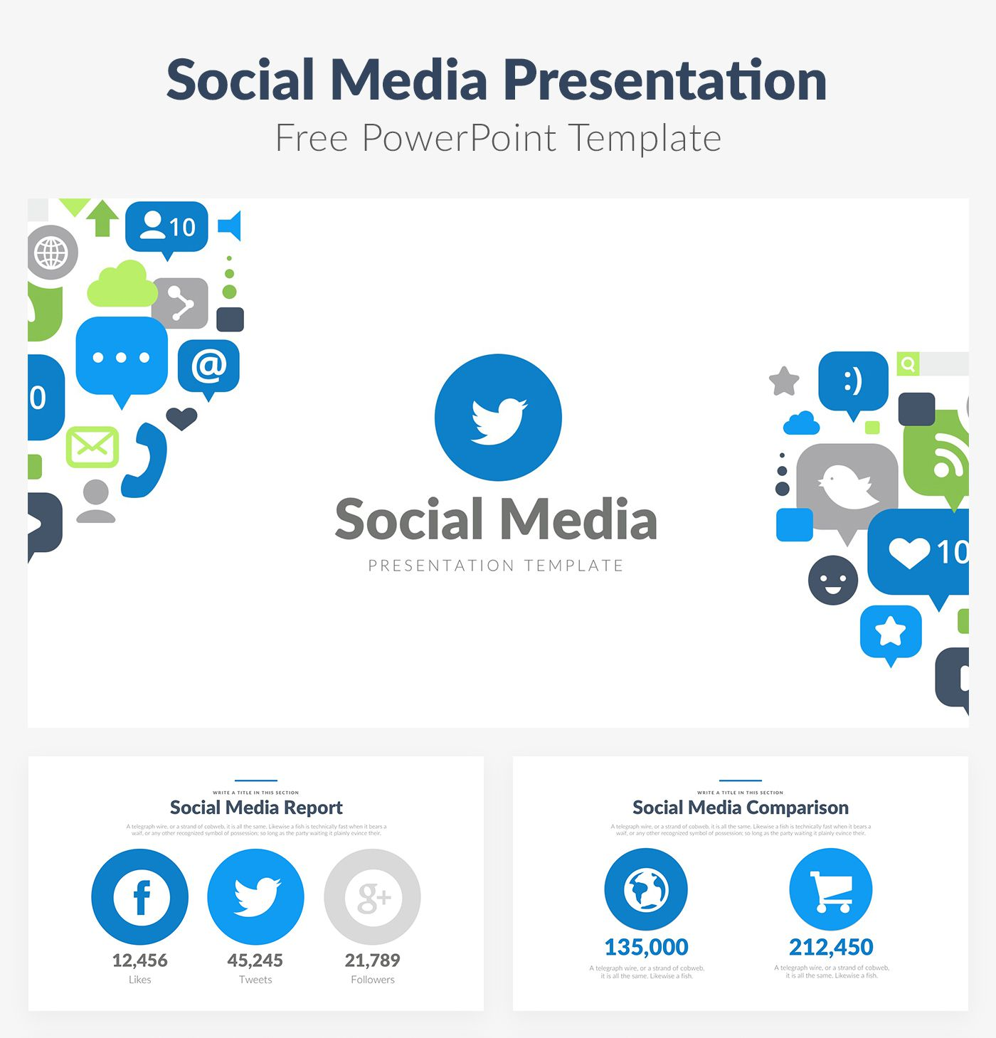 007 Top Social Media Trend 2017  Powerpoint Template Free Design -Full