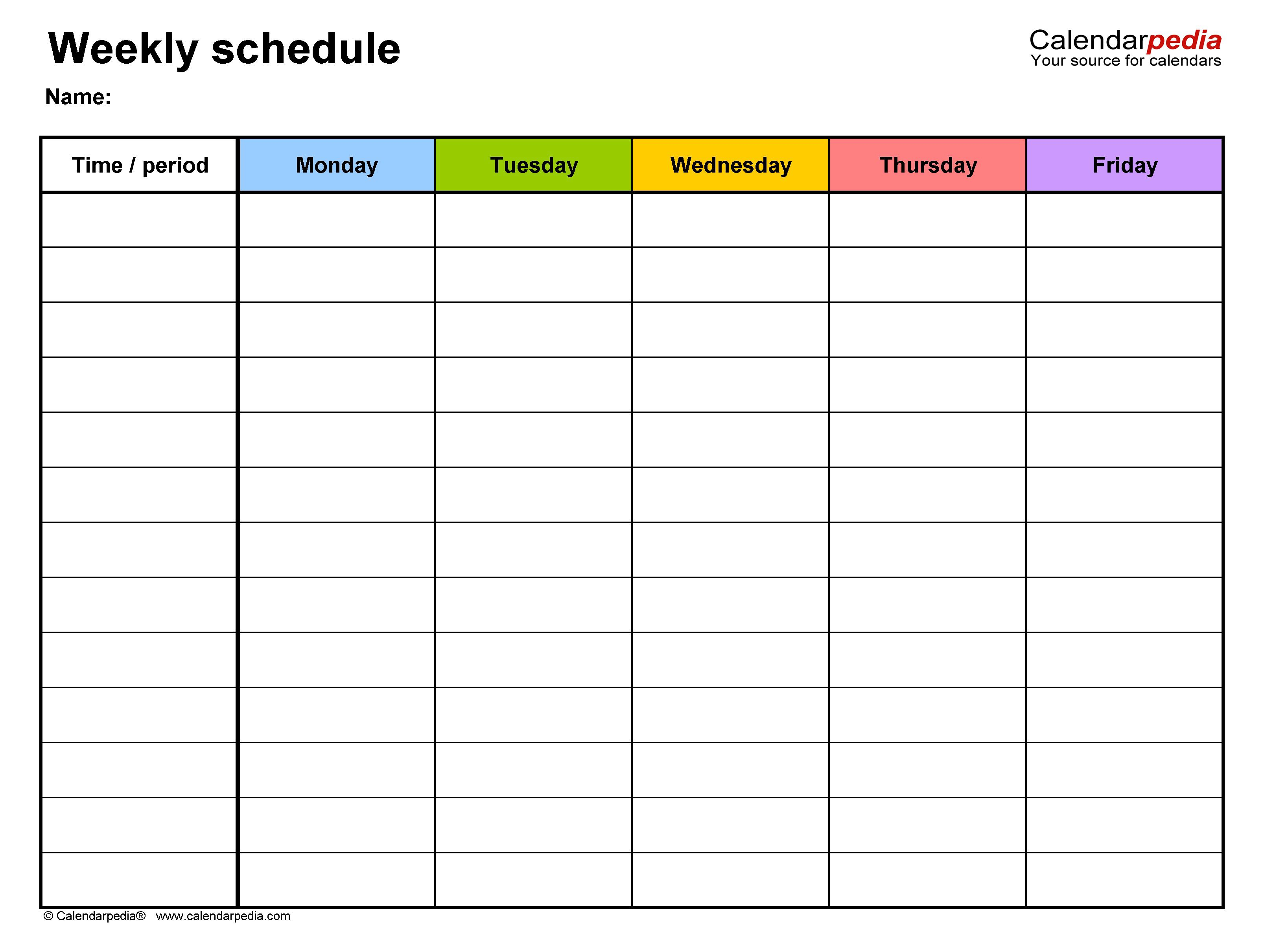 007 Top Weekly Hourly Schedule Template Picture  Free Calendar Word PdfFull