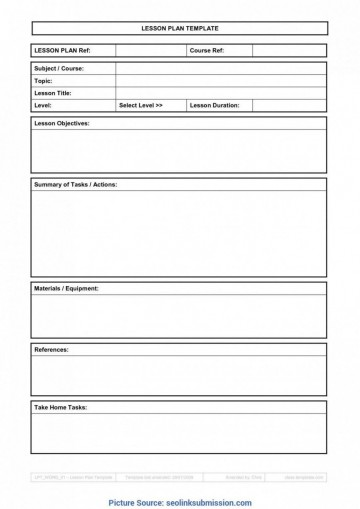 007 Top Weekly Lesson Plan Template Google Doc Sample  Ubd Siop360