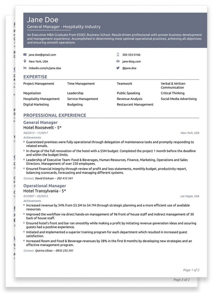 007 Unbelievable Best Professional Resume Template Image  For Fresher 2019 Cv Download