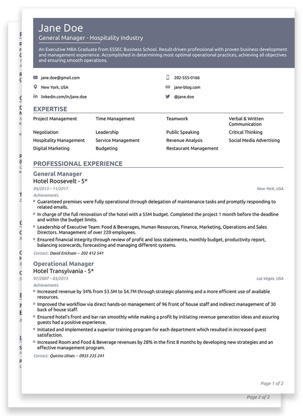 007 Unbelievable Best Professional Resume Template Image  Reddit 2020 DownloadFull
