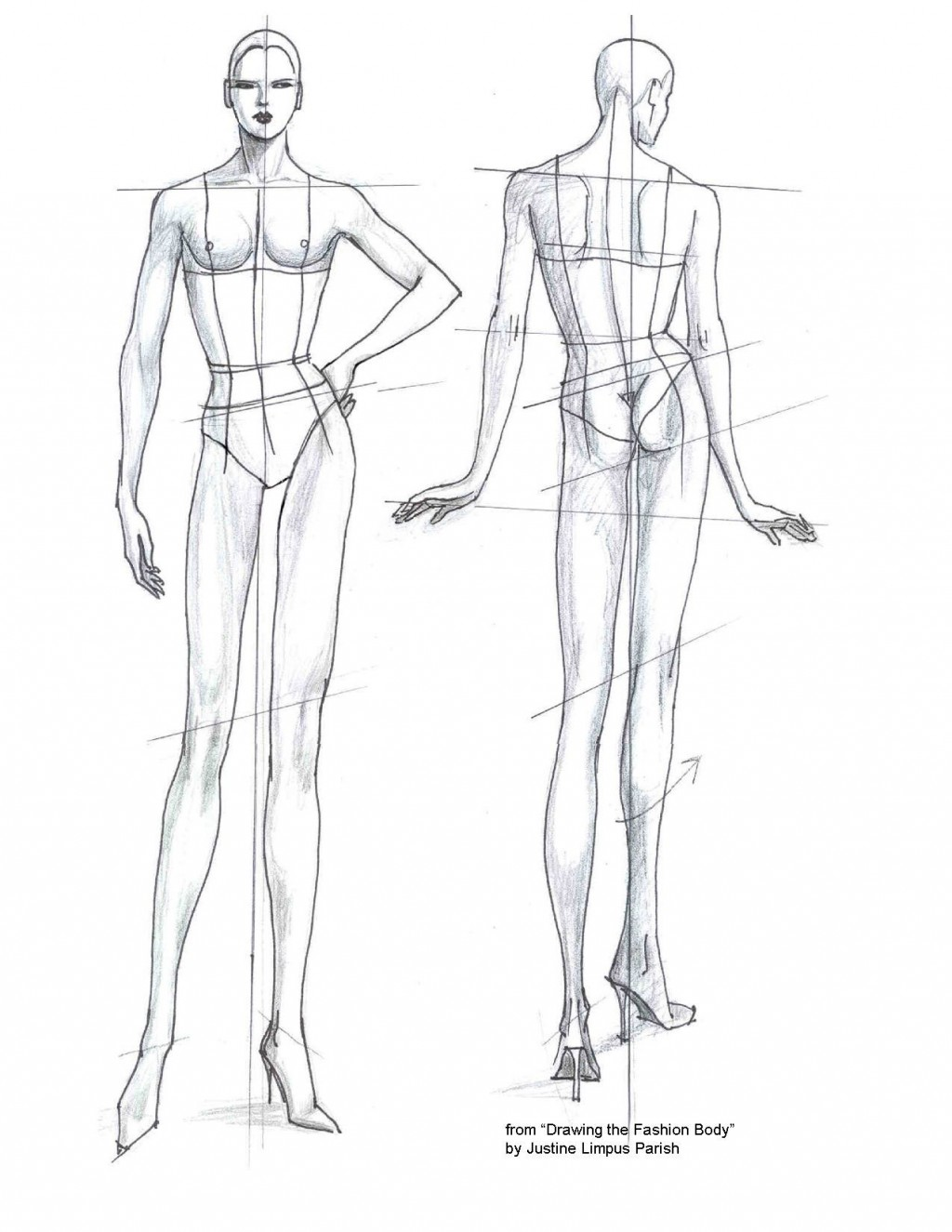 007 Unbelievable Body Template For Fashion Design Photo  Female Male HumanLarge