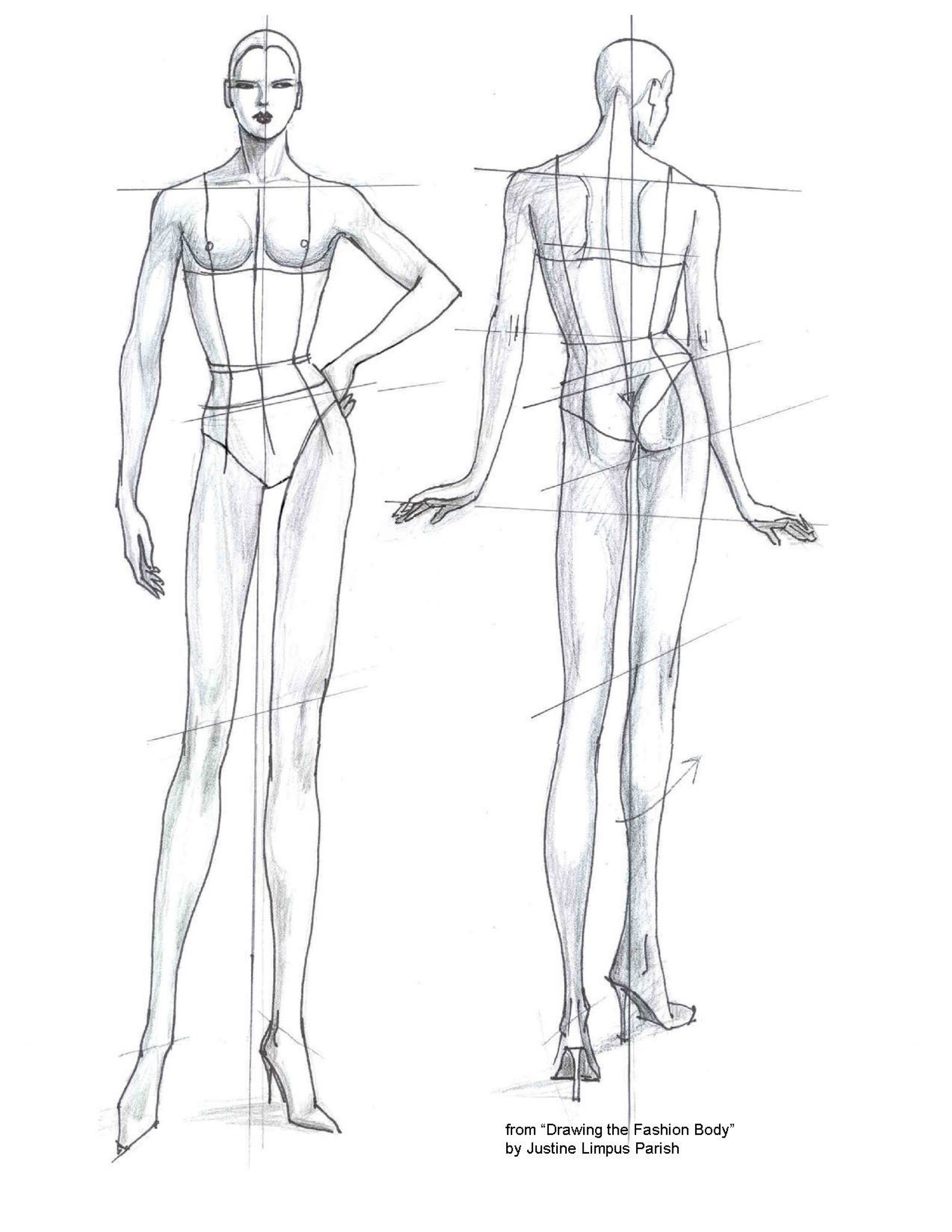 007 Unbelievable Body Template For Fashion Design Photo  Female Male Human1920