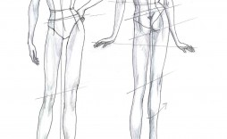 007 Unbelievable Body Template For Fashion Design Photo  Female Male Human