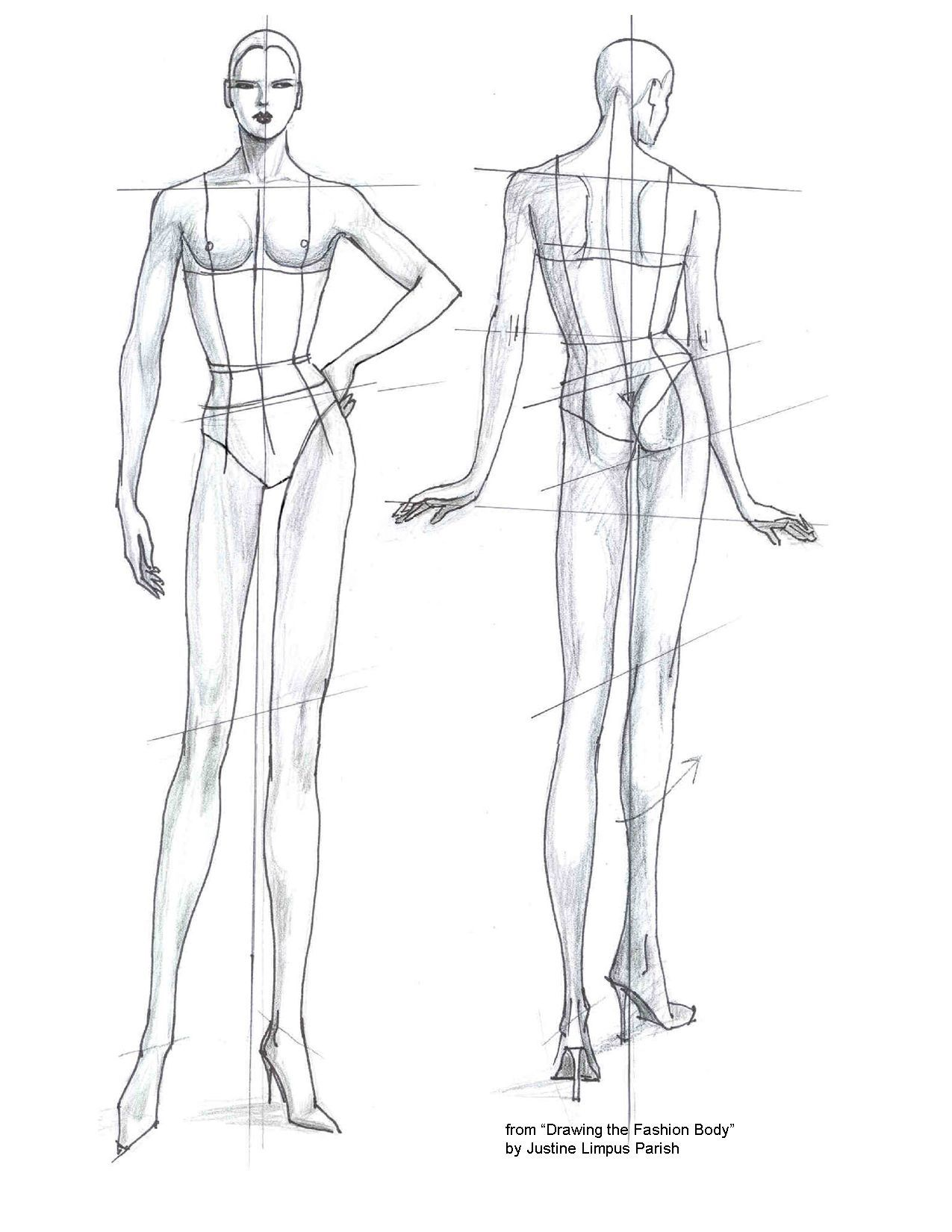 007 Unbelievable Body Template For Fashion Design Photo  Female Male HumanFull