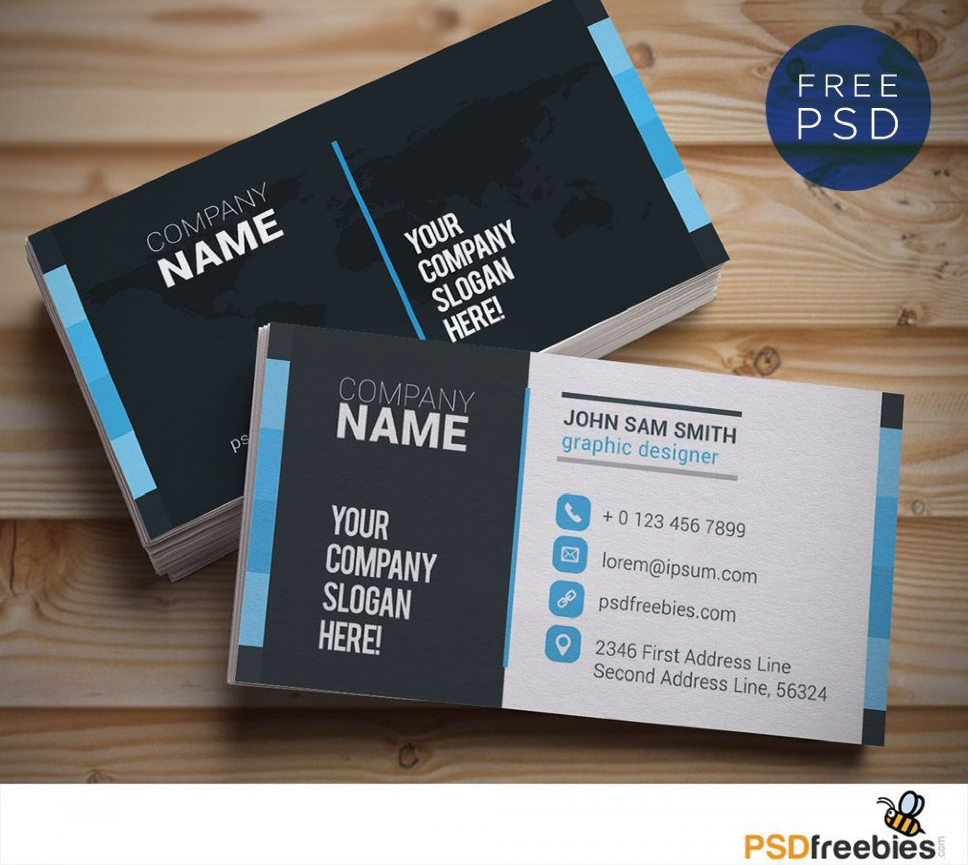 007 Unbelievable Busines Card Template Free Download Example  Psd File Pdf Ppt1920