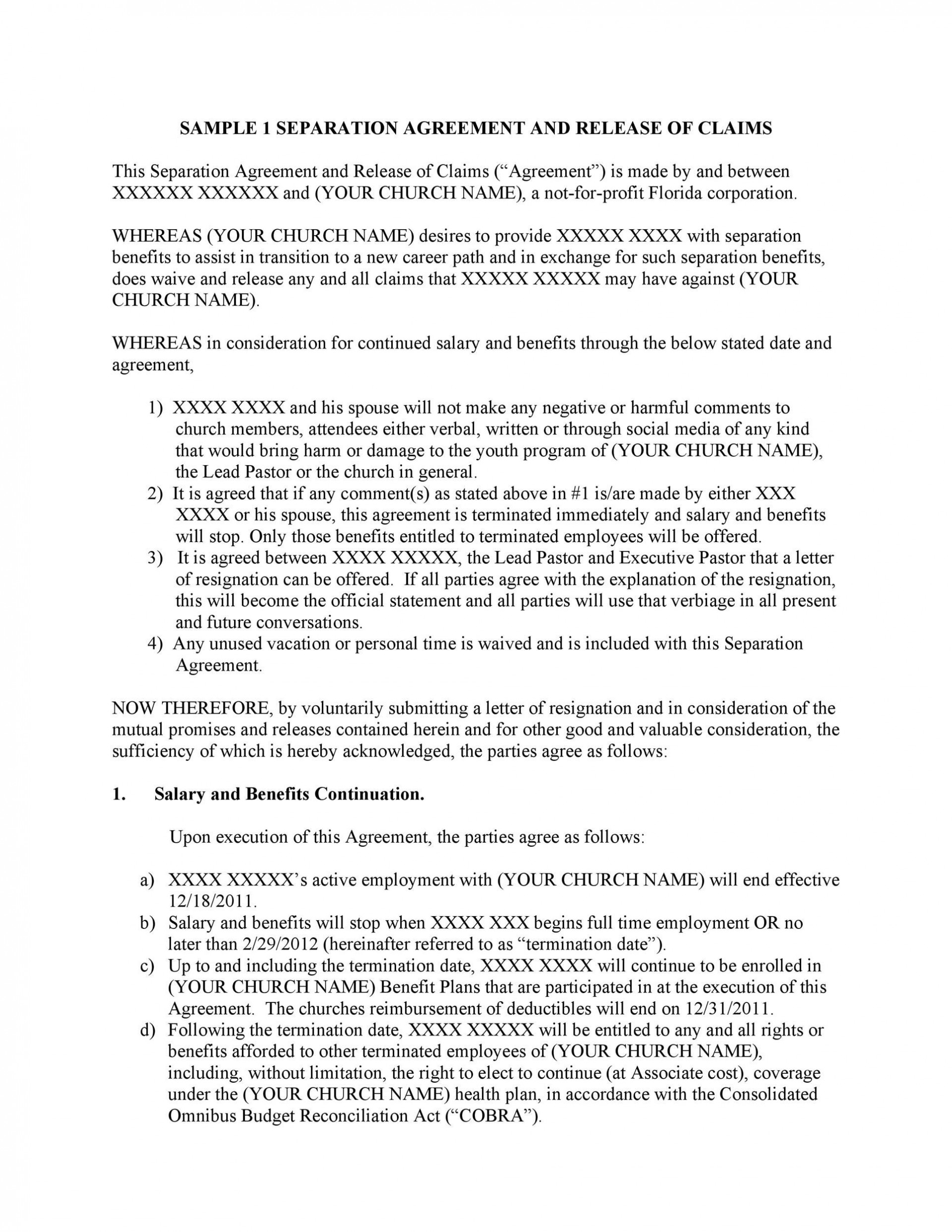 007 Unbelievable Busines Partnership Separation Agreement Template Inspiration  Partner Termination1920