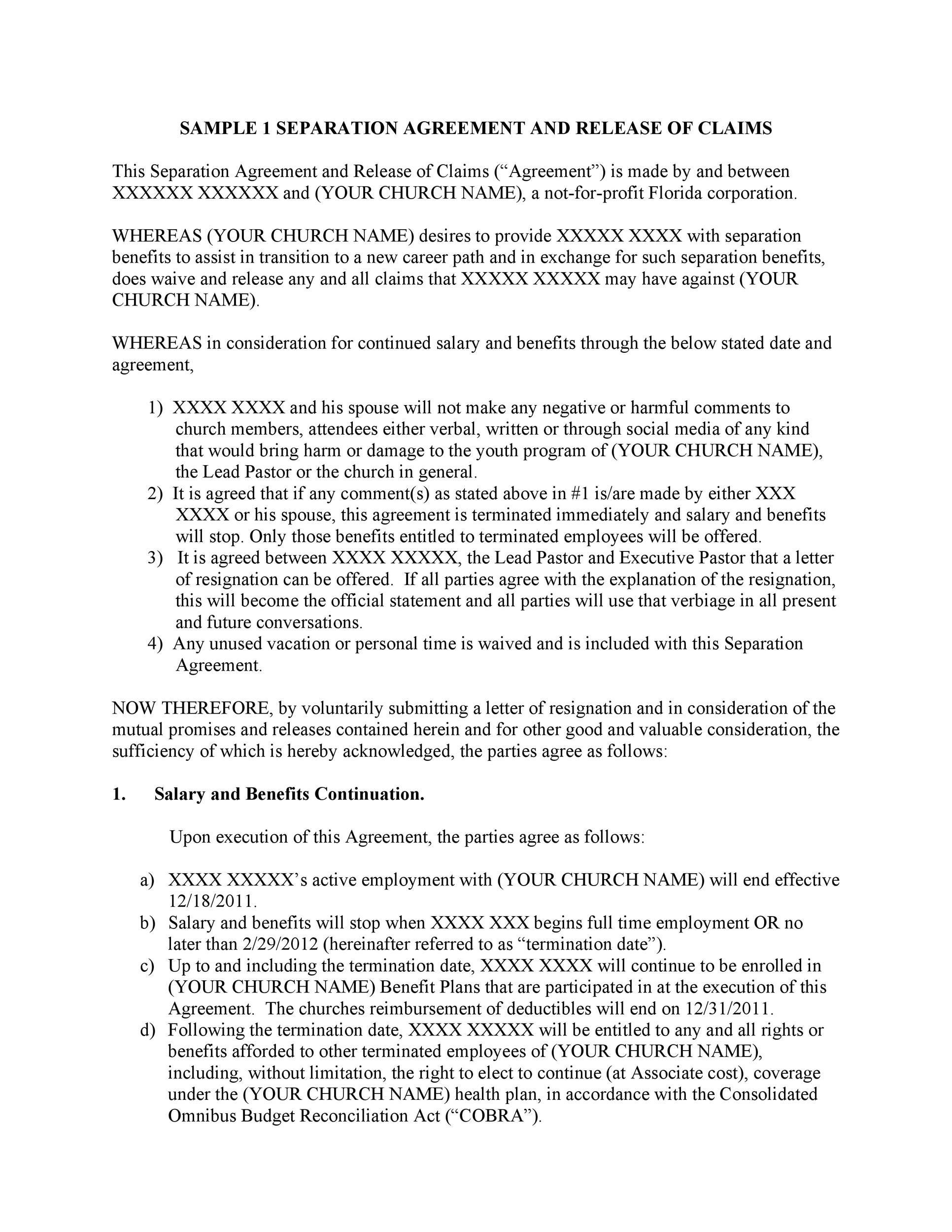 007 Unbelievable Busines Partnership Separation Agreement Template Inspiration  Partner TerminationFull