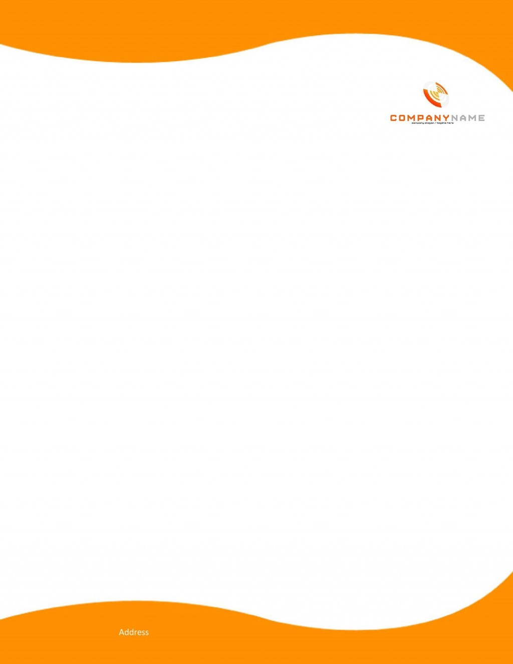 007 Unbelievable Company Letterhead Format In Word Free Download Design  Sample Template 2020Large