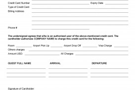007 Unbelievable Credit Card Usage Request Form Template Sample