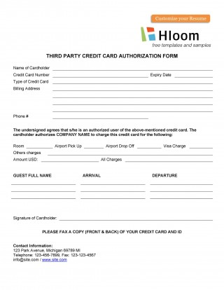 007 Unbelievable Credit Card Usage Request Form Template Sample 320