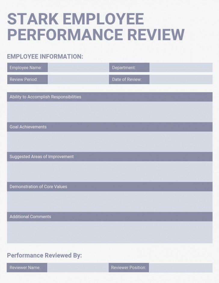 007 Unbelievable Employee Evaluation Form Template Picture  Sample Doc Printable Free Word728