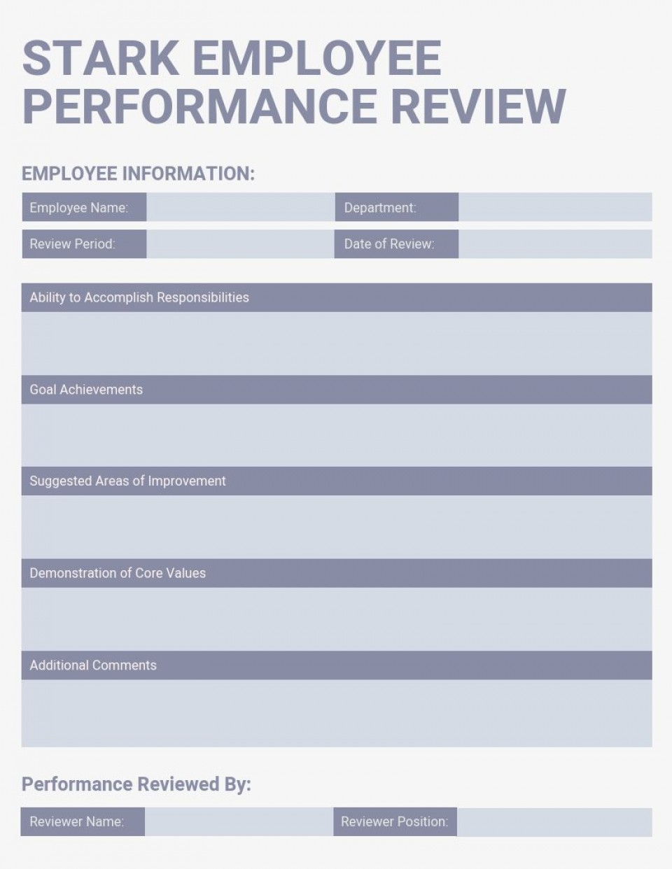 007 Unbelievable Employee Evaluation Form Template Picture  Sample Doc Printable Free Word960