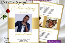 007 Unbelievable Free Celebration Of Life Program Template Download Picture