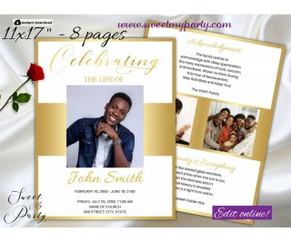 007 Unbelievable Free Celebration Of Life Program Template Download Picture 320