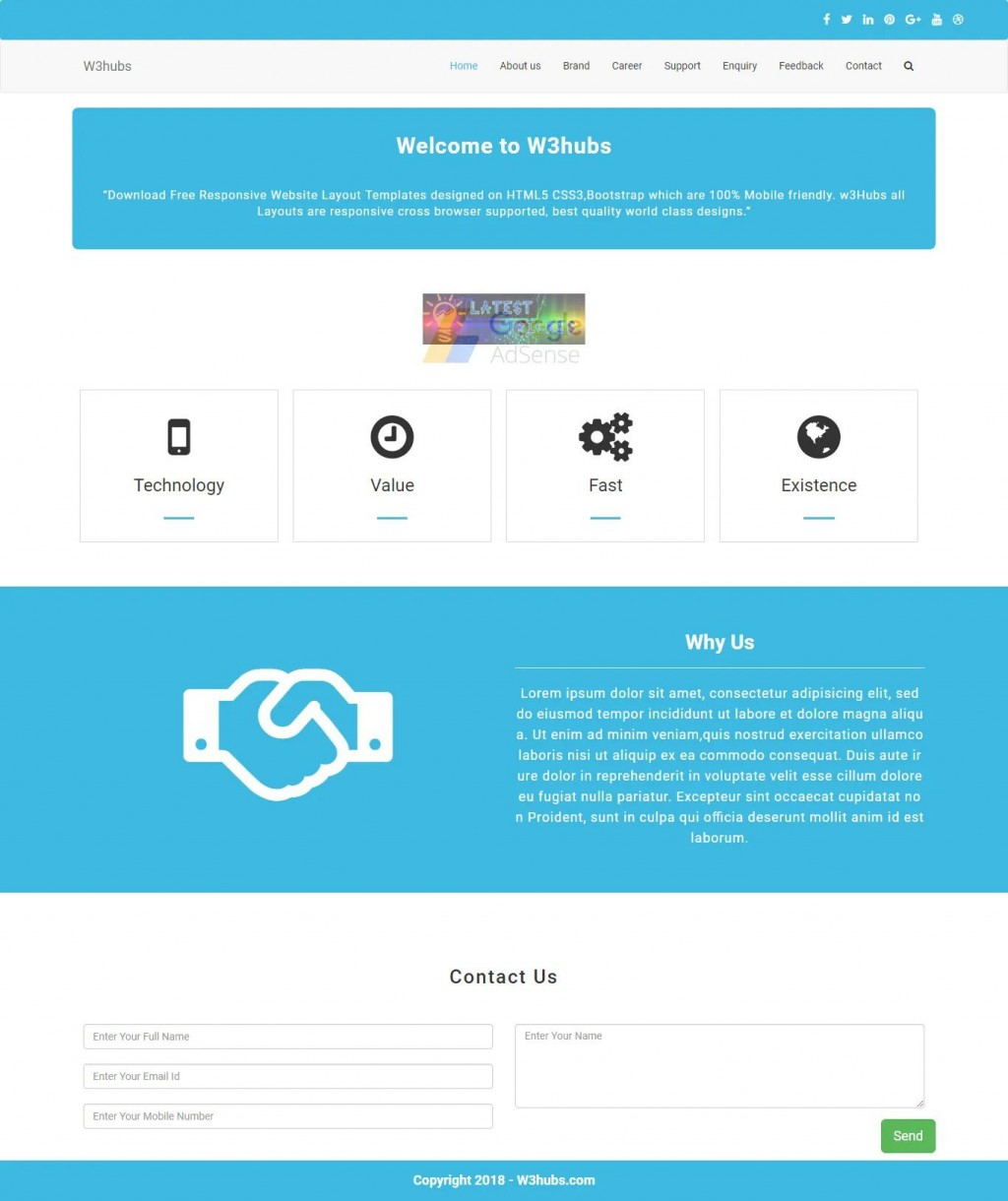 007 Unbelievable Free Php Website Template Photo  With Admin Panel Download Source Code And Database CmLarge