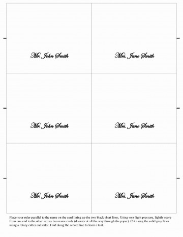 007 Unbelievable Free Place Card Template Word Example  Blank Microsoft Wedding Name360