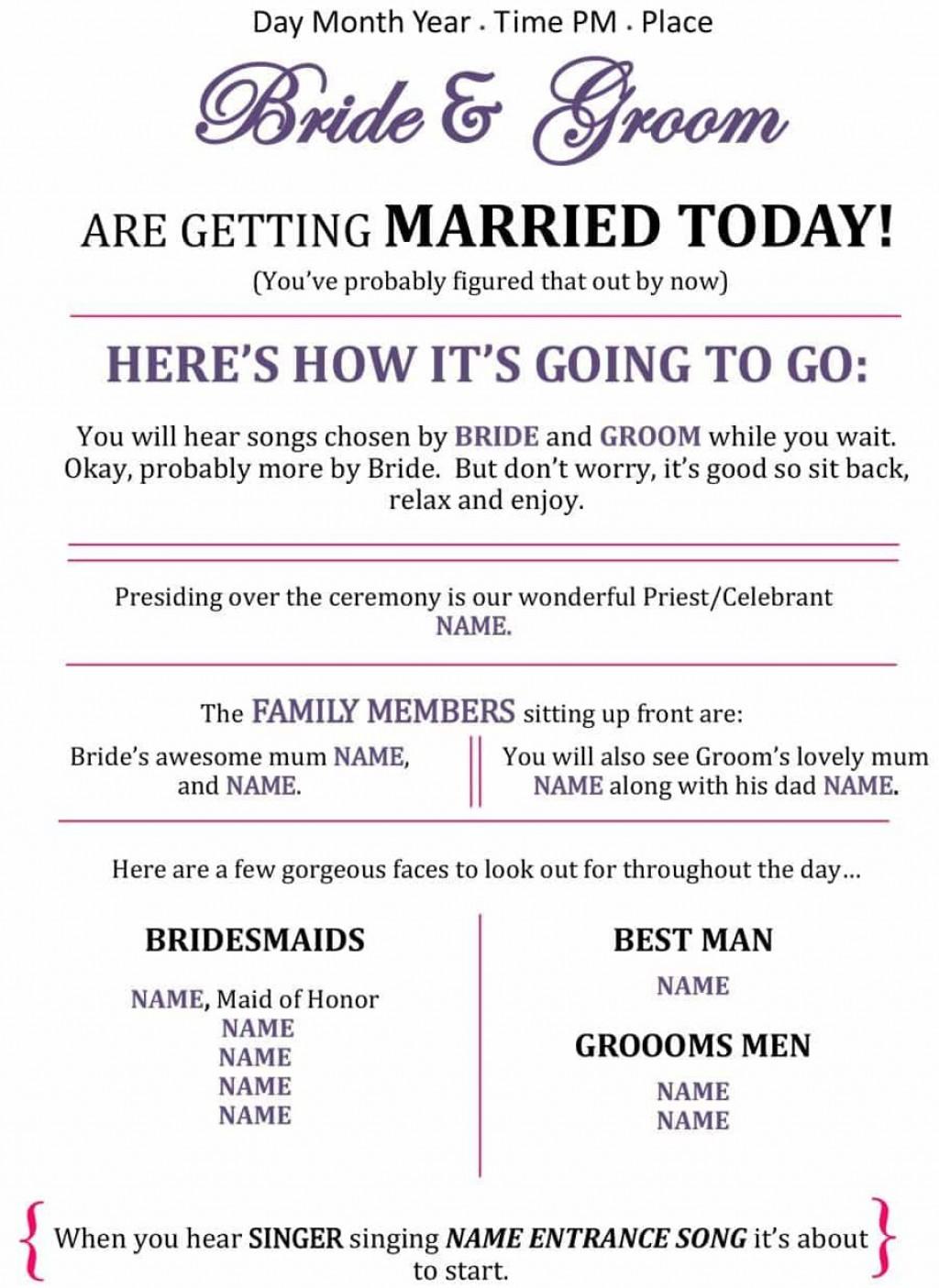 007 Unbelievable Free Wedding Program Template For Word Photo  Download Fan Microsoft Downloadable ReceptionLarge
