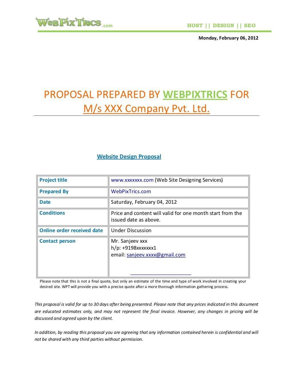 007 Unbelievable Freelance Website Design Proposal Template High Def Large