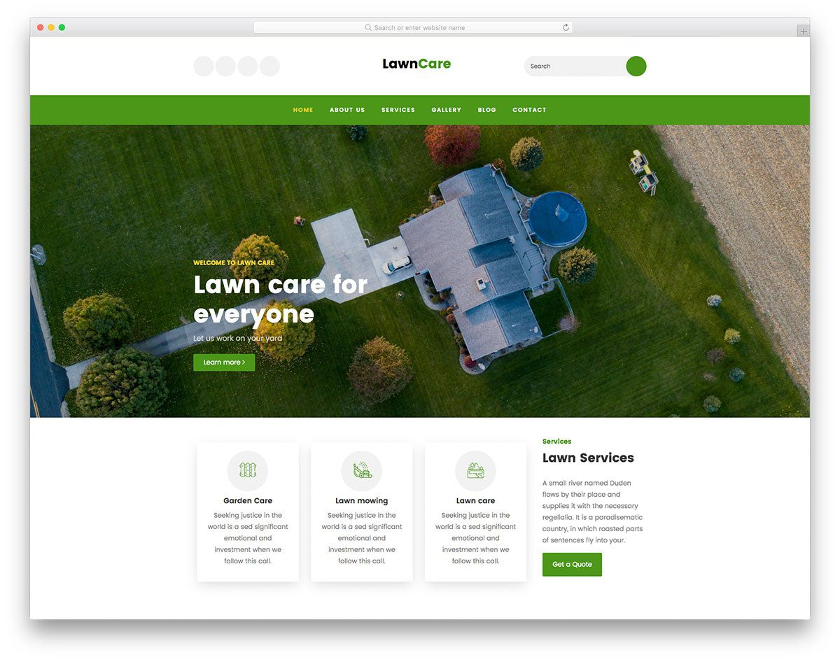 007 Unbelievable Lawn Care Website Template Picture Full