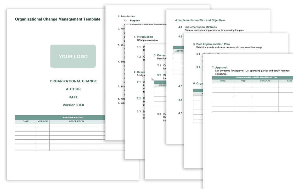 007 Unbelievable Management Of Change Procedure Template Picture  Proces FormFull