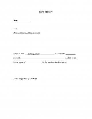 007 Unbelievable Rent Receipt Sample Doc High Definition  Format Word India Docx Document320