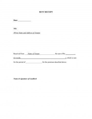 007 Unbelievable Rent Receipt Sample Doc High Definition  Format Free Download Word India360