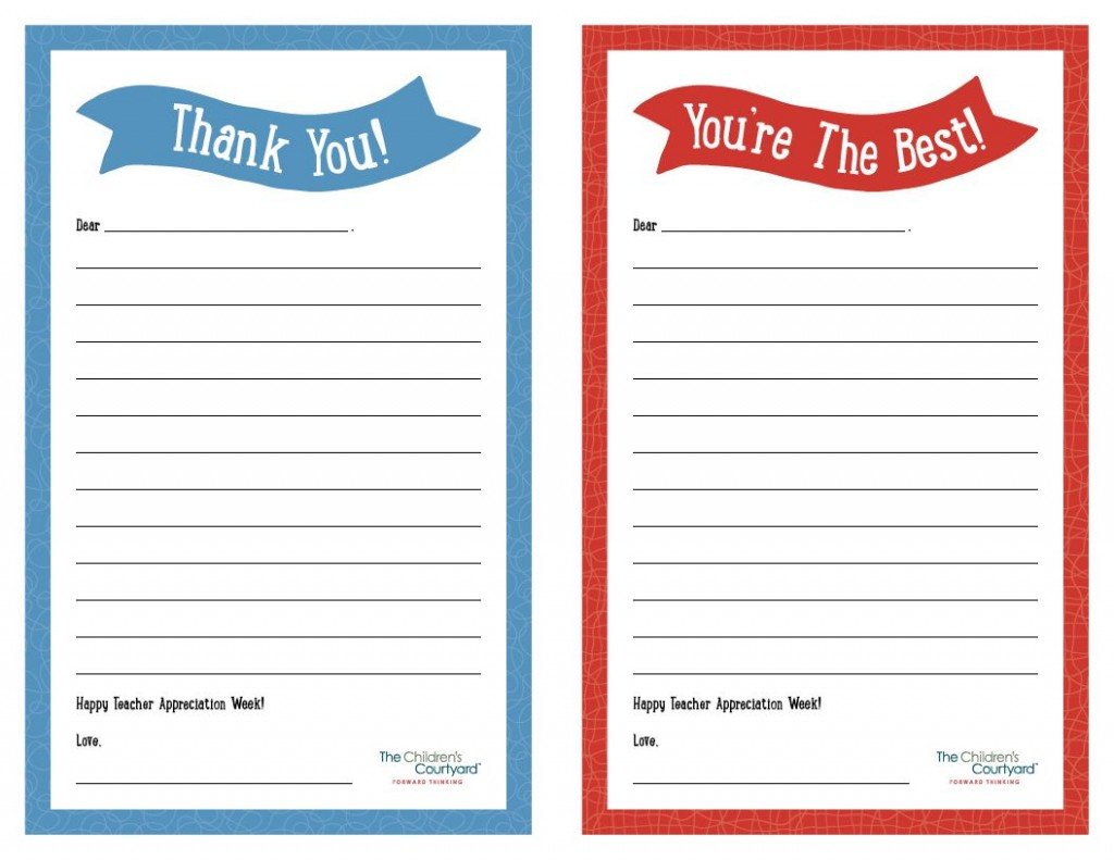 007 Unbelievable Thank You Note Template Printable Highest Quality  Letter Baby Card WordLarge