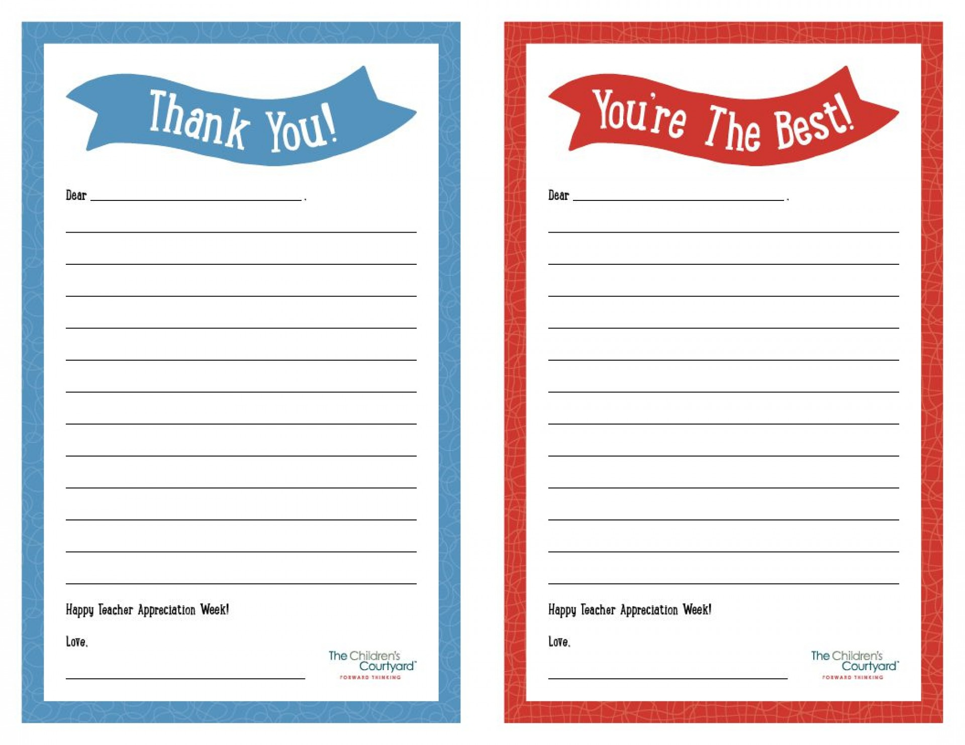 007 Unbelievable Thank You Note Template Printable Highest Quality  Letter Baby Card Word1920
