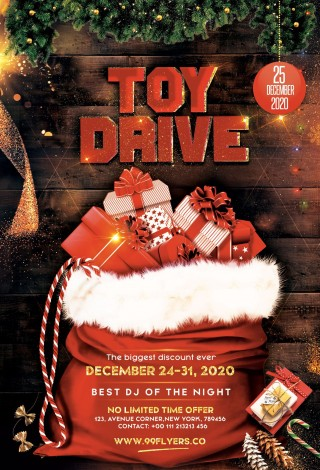 007 Unbelievable Toy Drive Flyer Template Free High Resolution  Download Christma320