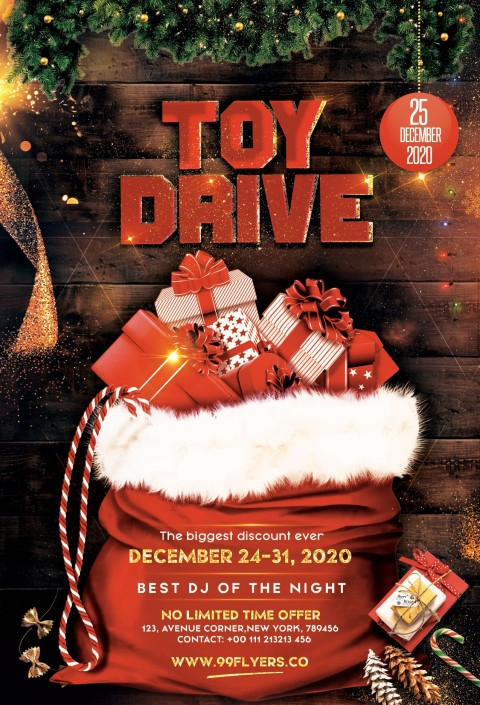 007 Unbelievable Toy Drive Flyer Template Free High Resolution  Download Christma480
