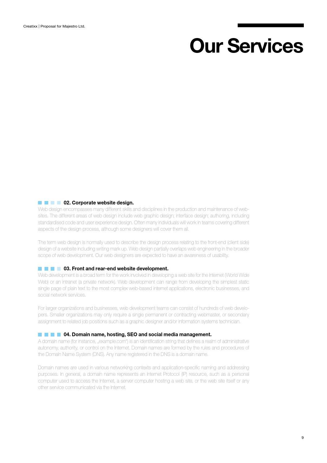 007 Unbelievable Web Design Proposal Template High Definition  Designer Writing Word Document SimpleFull