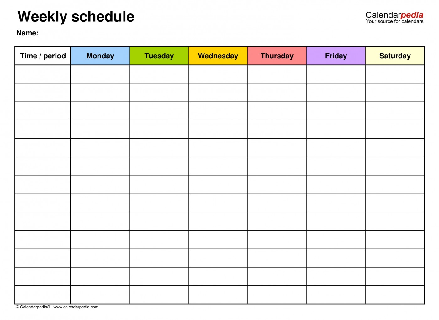 007 Unbelievable Weekly Schedule Template Pdf Concept  Employee Free Work Lesson Plan Format1400